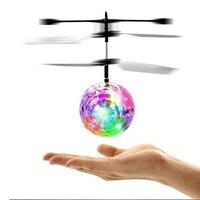 Цветной индукционный мини-летающий шар, игрушки, вертолет с дистанционным управлением, летающий Дрон, летающий крикаменный шар, подвесная и...