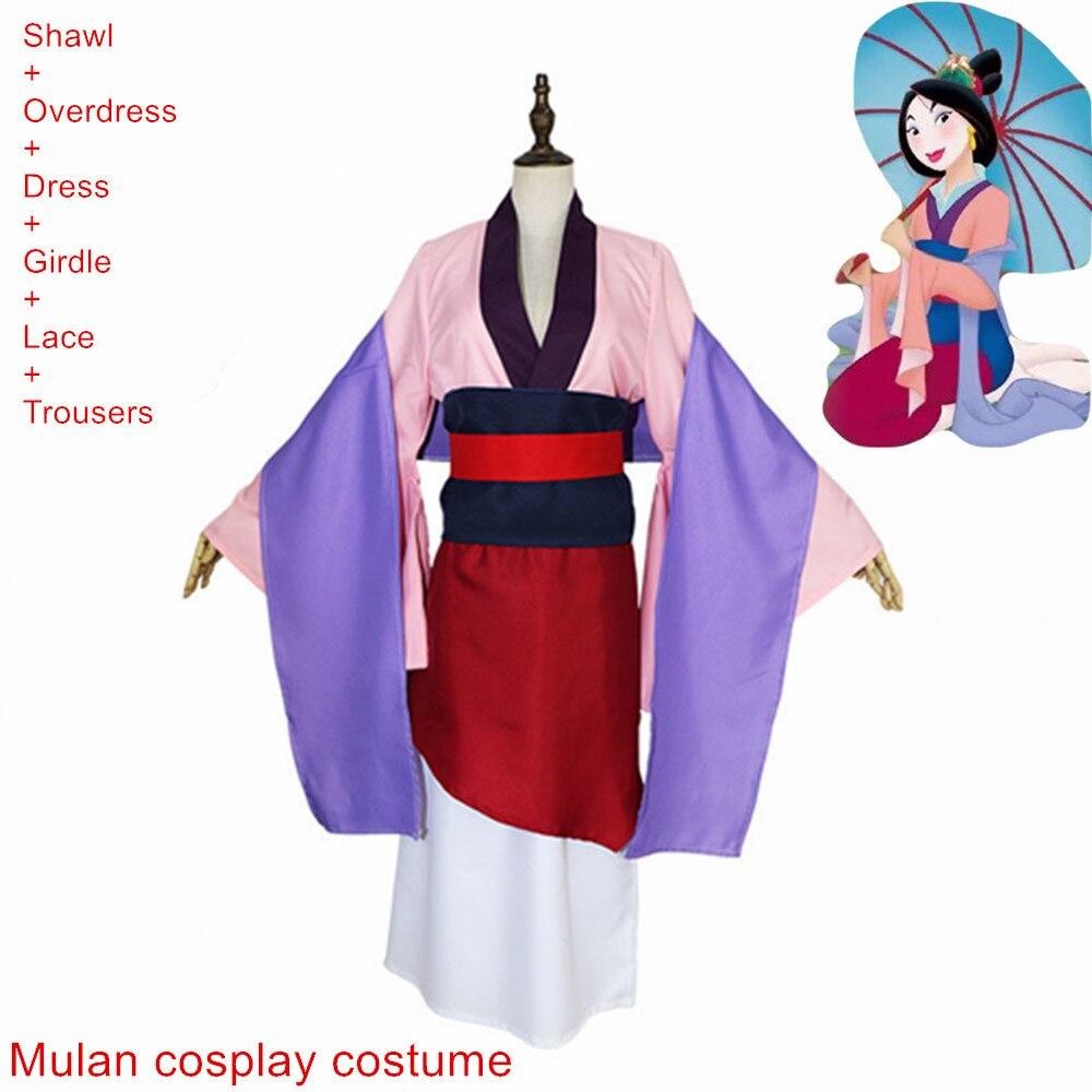 Chino Tang Ruqun Hanfu mujeres vestido de Mulan conjunto completo Halloween fiesta Cosplay traje cosplay Mulan XXS-2XL