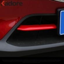 Para Mazda CX-3 CX3 2018 2017 2016 2015 protector de rejilla delantera molduras de coche cromado tira adhesiva accesorios de estilo Exterior