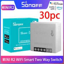 Беспроводной Wi-Fi переключатель Sonoff Mini R2 для умного дома, переключатель с двухсторонним управлением «сделай сам», Sonoff EweLink Alexa Google Home