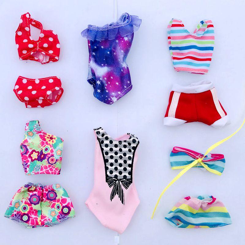 6 стилей/партия, аксессуары для кукол, одежда для игры Барби, девочки, «сделай сам», подарок на день рождения вечерние модные мини купальники ...