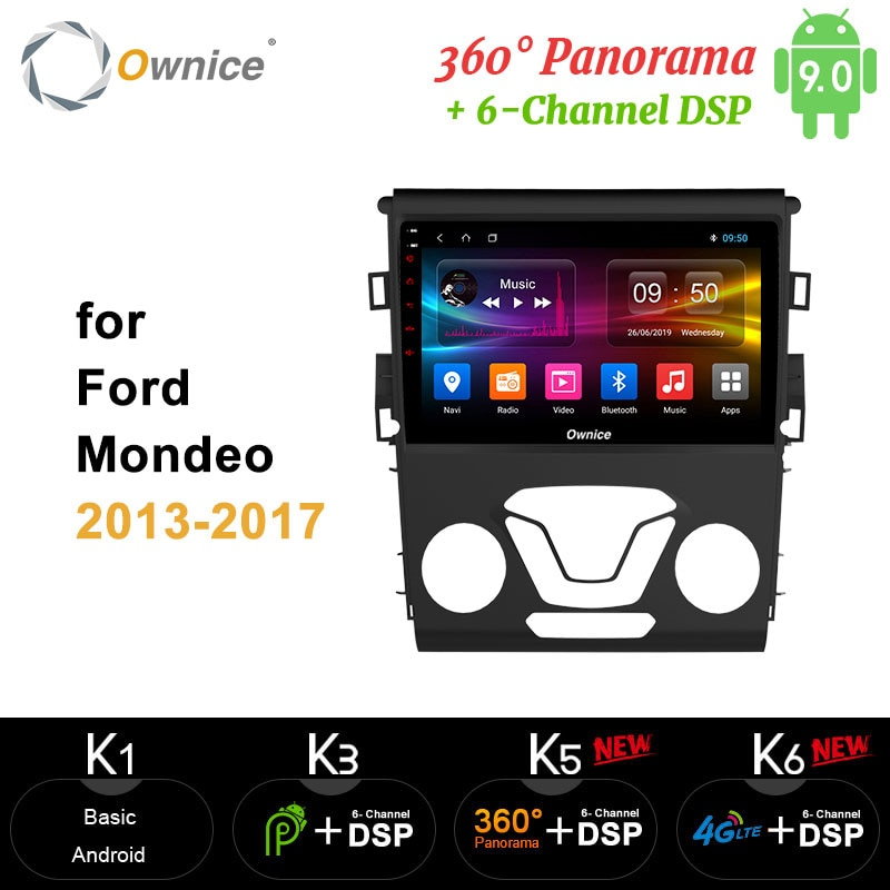 Ownice carplay 64G Octa Core Android 9.0 360 Panorama DSP 4G LTE SPDIF samochód 2Din Radio GPS odtwarzacz DVD dla forda Mondeo 2013 - 2017