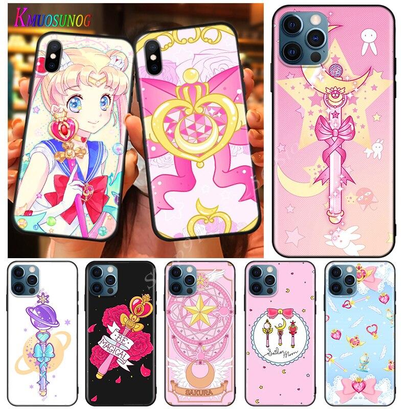 Para apple iphone 12 mini 11 pro max se capa sailormoon varinha mágica para apple iphone xs max xr x 8 7 6s 6 mais 5 s caso de telefone