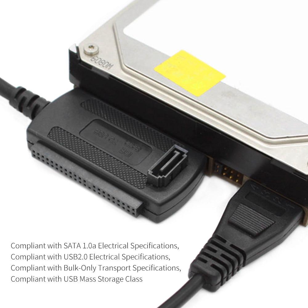 Портативный USB 2,0 для IDE/SATA жесткий диск HDD Plug And Play конвертер адаптер кабель для ATA/ATAI LBA 48bit режим адресации
