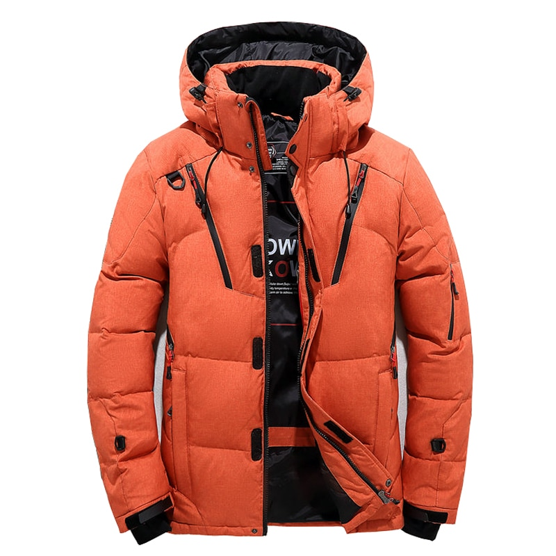 2020 new white duck down jacket men thick winter normcore minimalist hooded windproof warm coat parka big pockets size 3xl High Quality Winter Jacket Men Hooded Thick Warm Duck Down Parka Coat Casual Slim Down Mens Overcoat Many Pockets