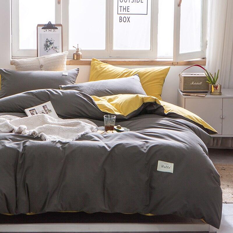 3 قطعة/المجموعة/المجموعة 17 ألوان 100% غطاء لحاف من القطن بلون نقي غطاء لحاف من القطن كلا الجانبين تصميم طقم سرير عالمي مفارش
