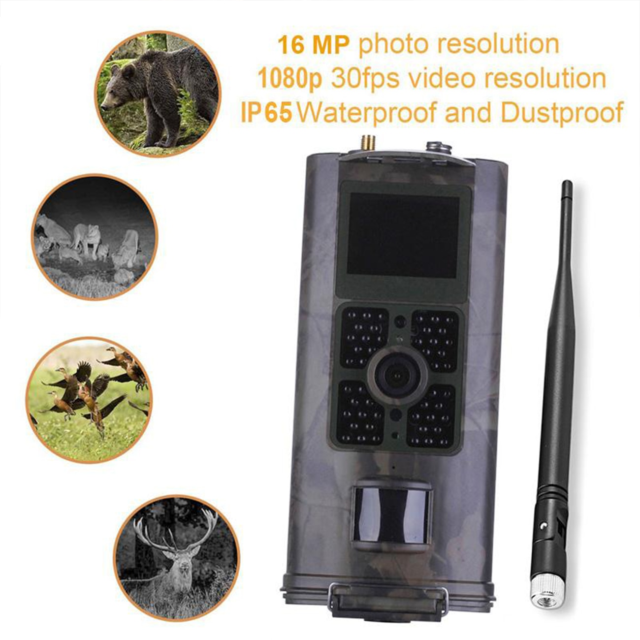 Trail Camera HC700M   Cellular Hunting Camera 2G GSM MMS SMS SMTP Mobile 16MP Night Vision Wireless Wildlife Surveillance enlarge