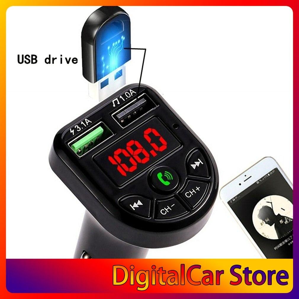 Автомобильный Mp3 Bluetooth-совместимый телефонный плеер с функцией громкой связи Bte5, Музыкальная карта, аудиоприемник, Fm-передатчик, быстрое зар...