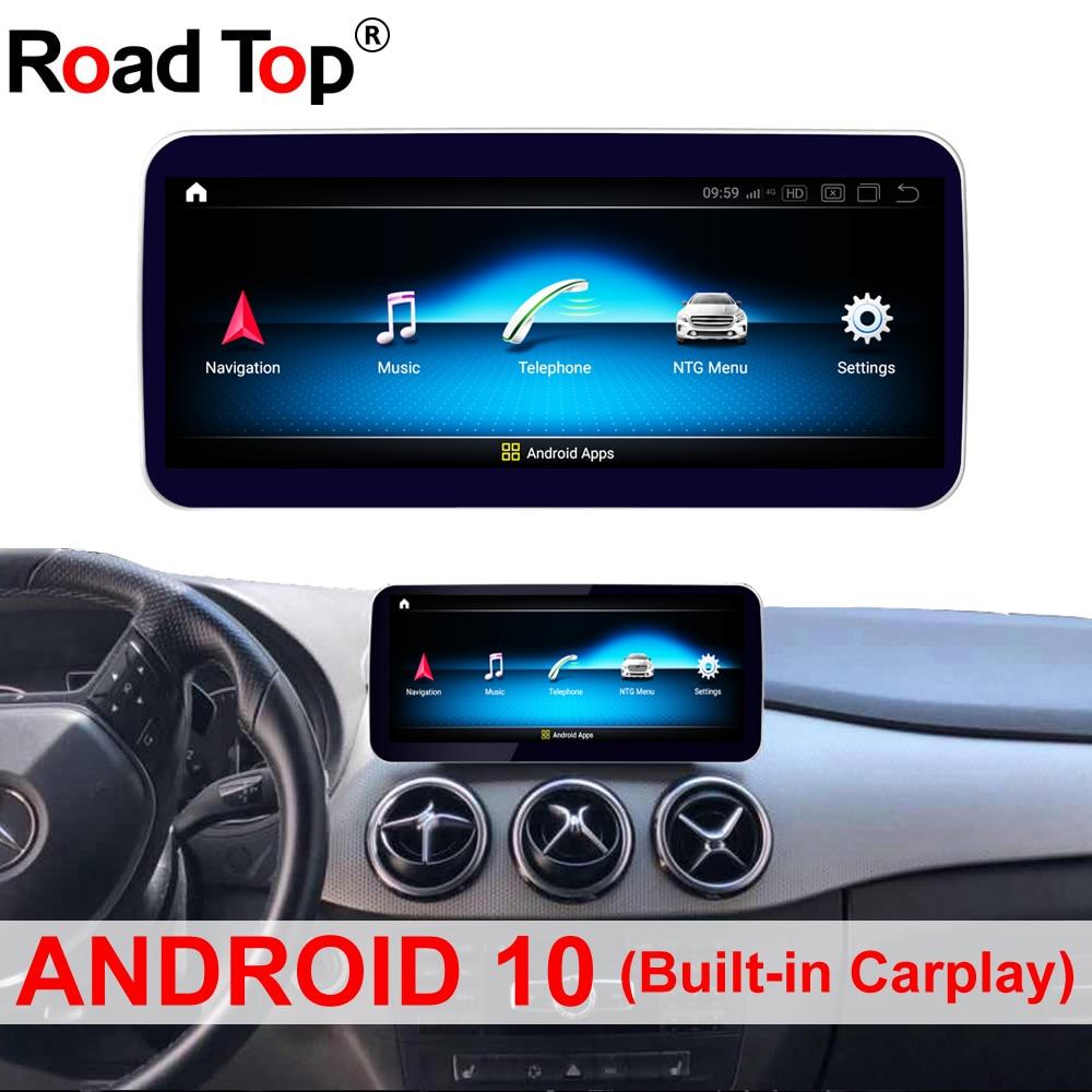 10,25 pulgadas 12,5 pulgadas Android 10 pantalla con Android 4G para Benz Clase B W246 2013-2015 Radio pantalla GPS Head UP pantalla táctil