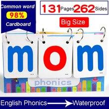 131 pièces/ensemble anglais phonétique orthographe calendrier de bureau apprentissage langue Flash mot carte éducation jouets pour enfants enfants cadeaux