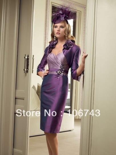 Платья с бесплатной доставкой, индивидуальное официальное платье 2016, фиолетовые платья в формальном стиле, короткое платье для матери птиц...
