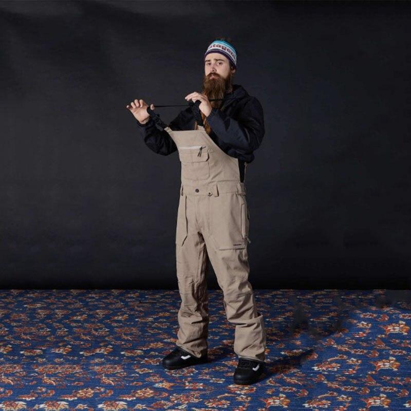 Мужские лыжные брюки Dmt.Pstvm с ремешками, черный, хаки, водонепроницаемые брюки, длинные штаны из плотной ткани, мужские утепленные длинные бр...