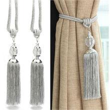 2 pièces rideaux Holdbacks corde cravate dos gland perles embrasses cristal boule décor cristal boule décor rideau accessoires