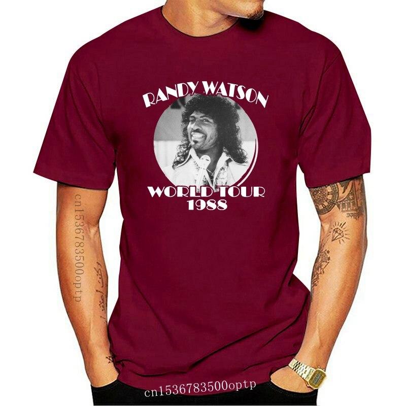New RANDY WATSON WORLD TOUR - 80s Funny Murphy - Mens Cotton T-Shirt - ALL SIZES