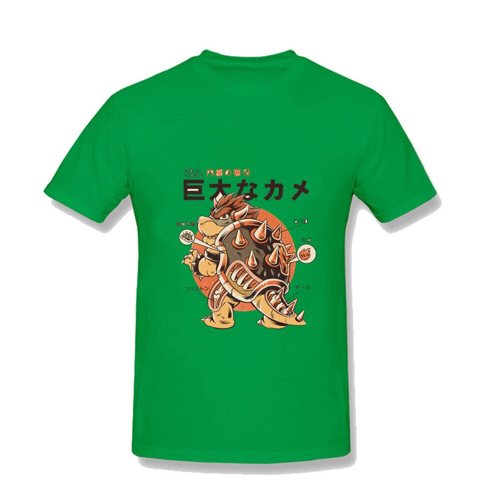Camiseta de fútbol blanca para hombre, camisetas de alta costura para gimnasio, camisetas de super mario bros Bowser BOSS Bowser Koopa Lil Peep