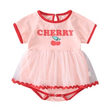 Yg  brand children's clothing summer new girl climbing clothes bag fart clothes baby lovely princess