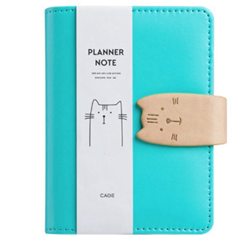 A7 lindo Bloc de notas Agenda diaria notas planificador Agenda cuaderno bloc de bocetos Oficina estudiante negocios regalos bolsillo Mini Notebook