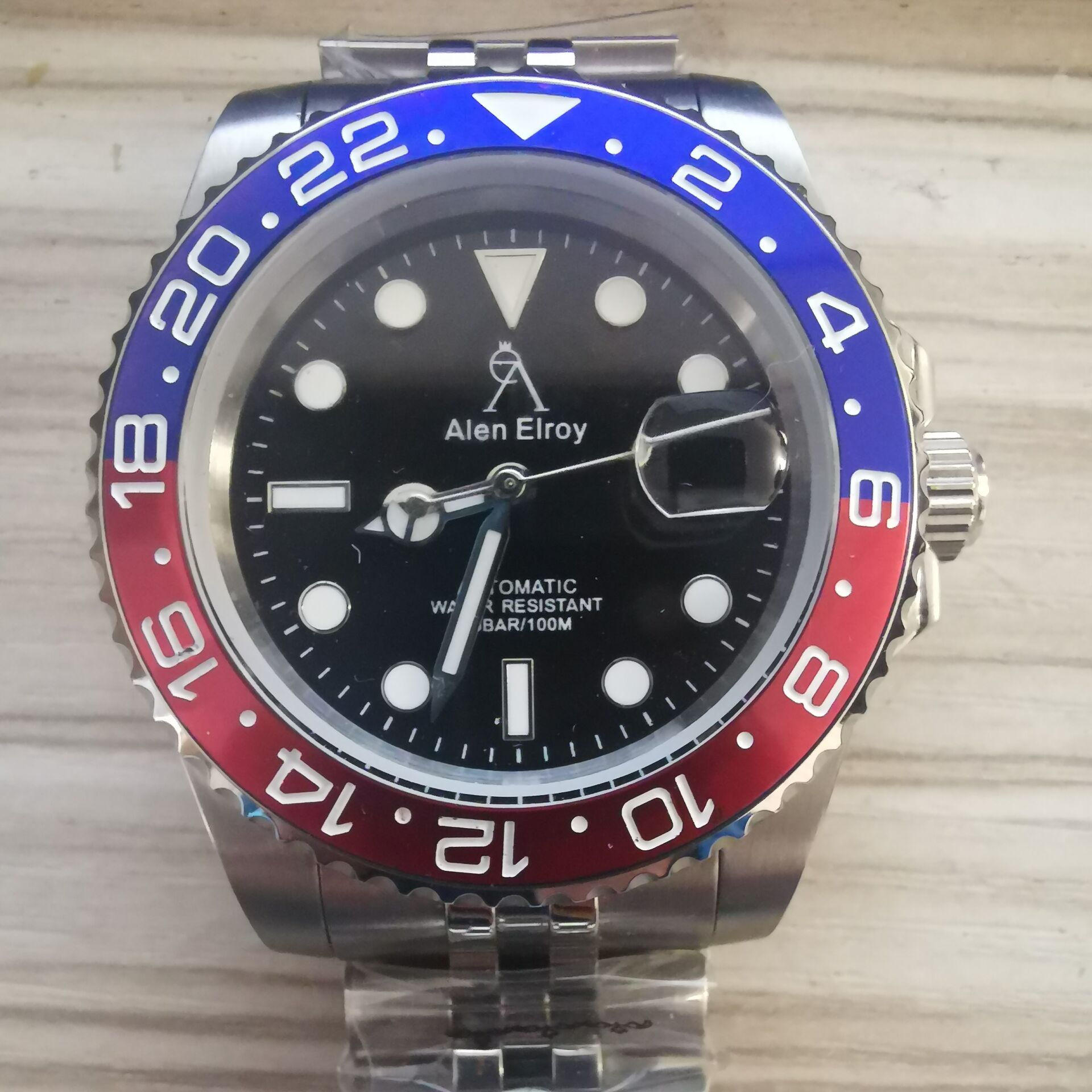 AE High-end watches men's automatic U1 factory ceramic bezel sapphire glass luminous needle sweep movement luxury Black sub