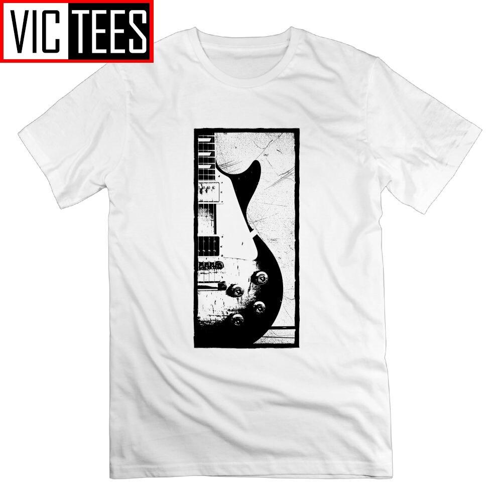 Les Paul Guitarra Jimmy Page Design T Camisa dos homens-Manga Curta T-shirt 100% Algodão Em Torno Do Pescoço Camisas Dos Homens T Do Vintage