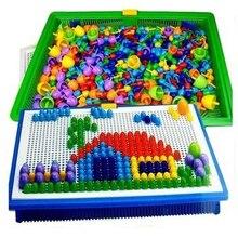 296 pièces/ensemble créatif mosaïque jouet cadeaux enfants ongles Composite image Puzzle créatif mosaïque champignon ongles Kit Puzzle jouets