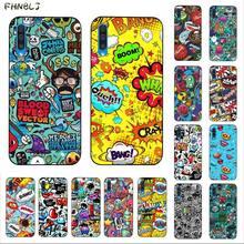FHNBLJ Anime Graffiti Sticker Bomb Luxury Unique Design Phone Cover for Samsung A10 20s 71 51 10 s 20 30 40 50 70 A30s cover