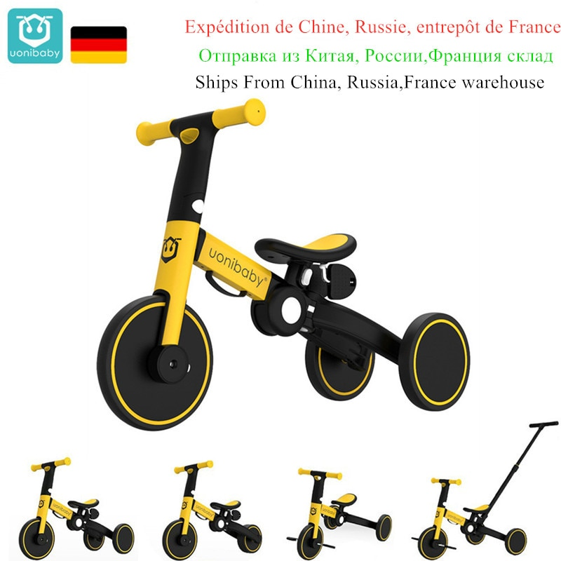 Uonibaby-دراجة ثلاثية العجلات للأطفال 4 في 1 ، عربة بدواسة ، دراجة ثلاثية العجلات للأطفال من سن 1 إلى 6 سنوات