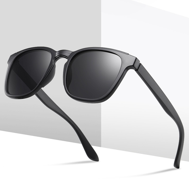 Men Polarized Sunglasses 2021 New TR90 Square Frame Fashion Rays Brand Designer Outdoor Travel UV400