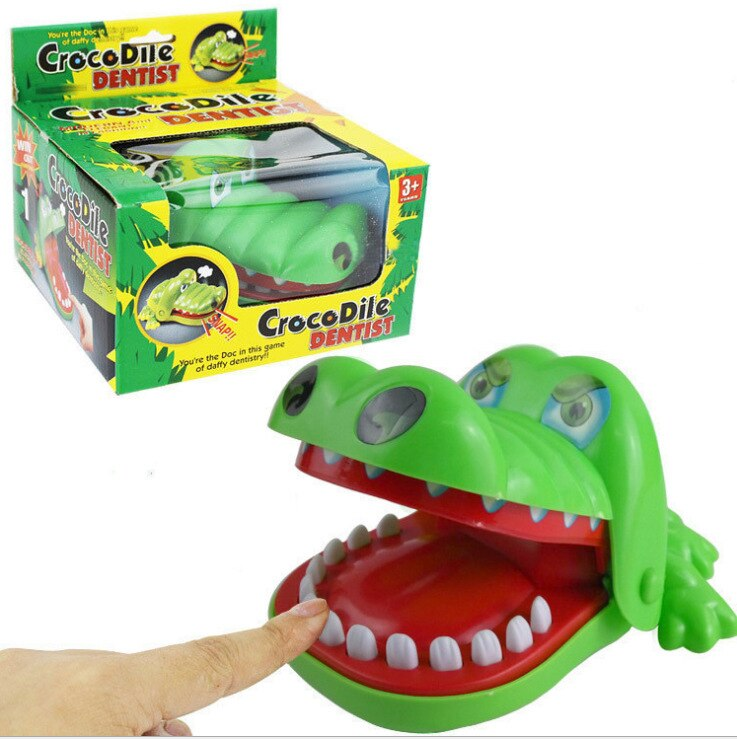 752 # morder dedo juguete morder la mano cocodrilo morder juguete truco