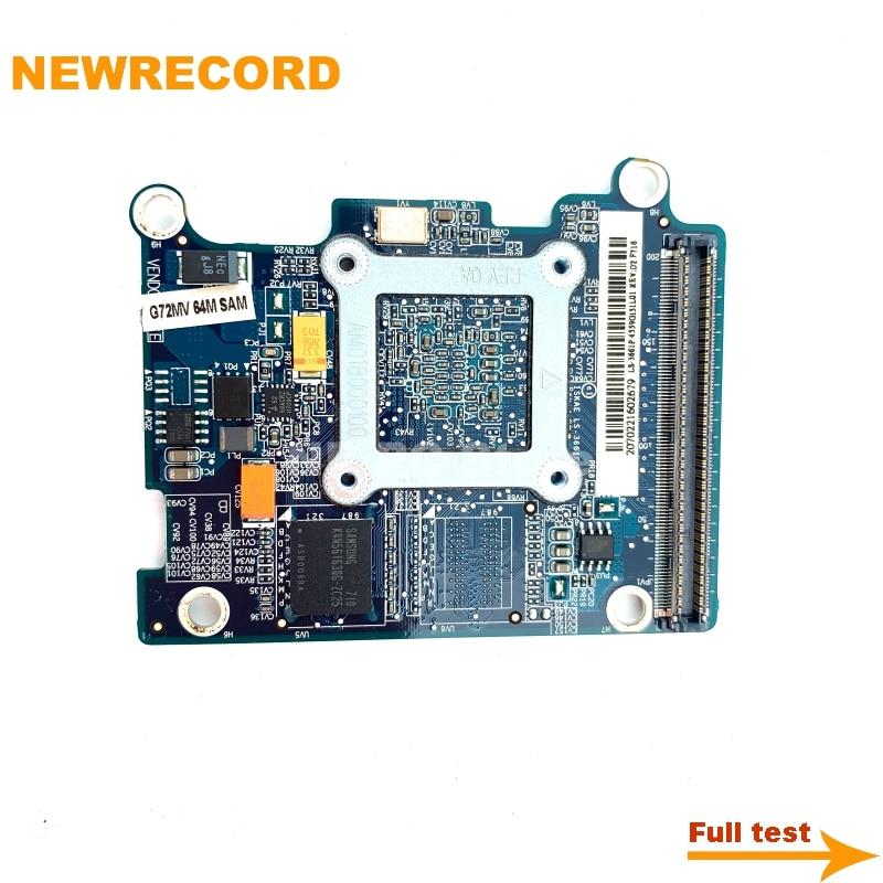 Купить с кэшбэком NEWRECORD LS-3661P G72mv GO7300 K000049880 K000049660 VGA Video Card Board for Toshiba A200 A205 A215 laptop