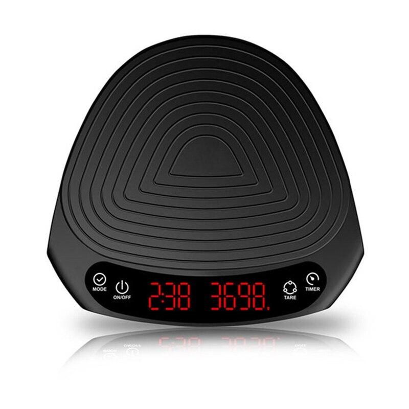 2 كجم/0.1 جرام بالتنقيط مقياس القهوة مع الموقت المحمولة الإلكترونية الرقمية مطبخ مقياس عالية الدقة LED ميزان إلكتروني