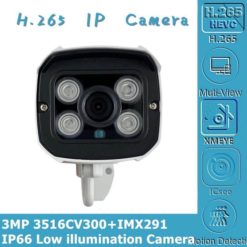 Sony IMX291 + 3516CV300 3MP 2048*1536 1080P H.265 cámara IP StarLight baja iluminación inteligente análisis CMS vmeyesuper de P2P RTSP