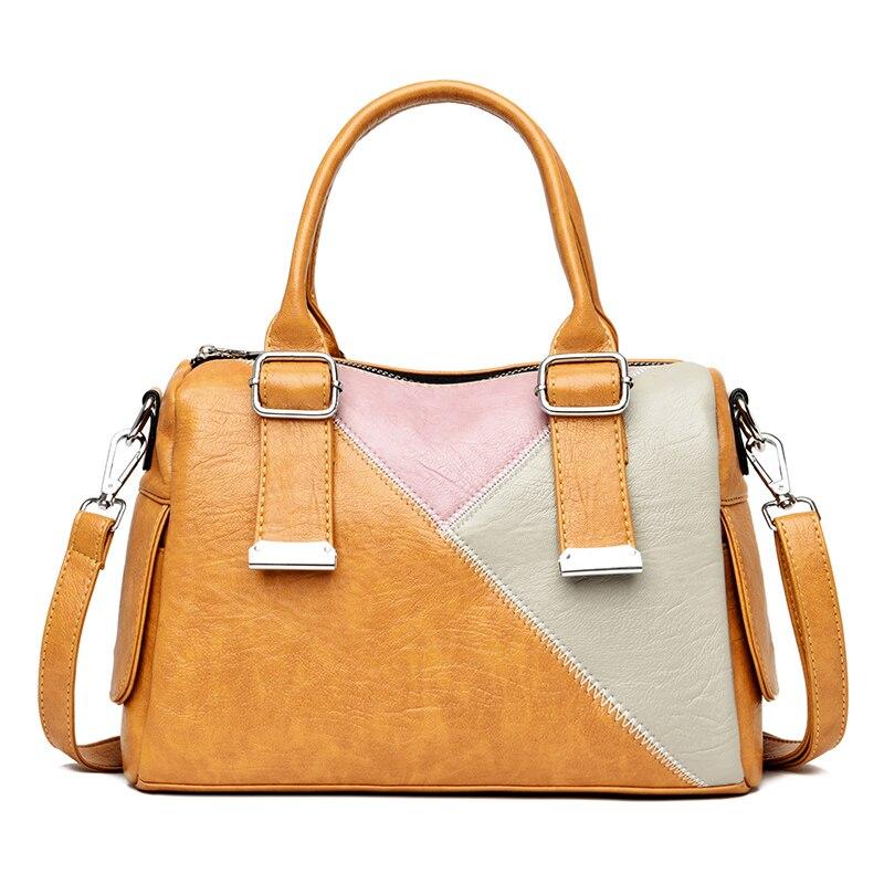 Bolsos de cuero auténtico para mujer 2020, bolsos de lujo de retales de almohada, Bolsos De Mujer, bolsos de oficina para mujer, bolsos de hombro pequeños