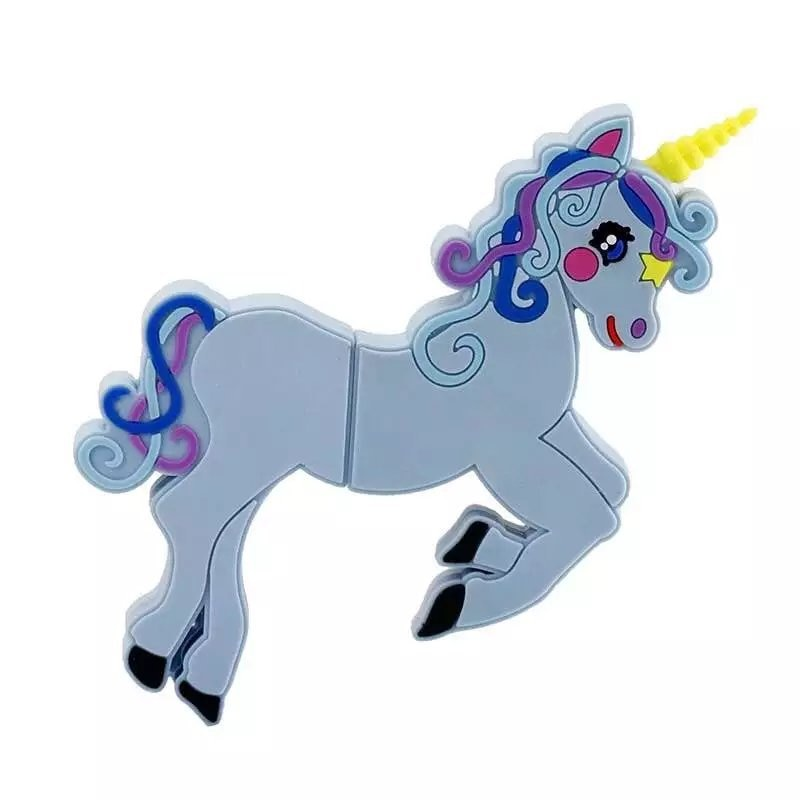 Creative Cute Unicorn Cartoon Usb Flash Drive 128GB 2.0 Usb Stick 512GB Pendrive 256GB Flash Memory Card Pen Drive Free Shipping