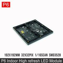 Módulo de señales de pantalla Led a todo Color P6 SMD 32x32 puntos para interiores, envío gratis