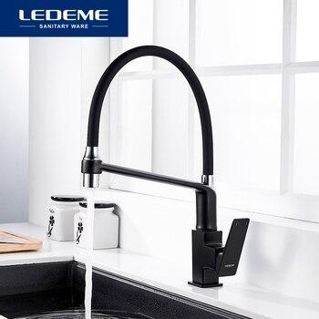 LEDEME Kitchen Faucet Mixer Swivel Pull Down Kitchen Faucet Tap Mounted Deck Mounted Hot Cold Water L4078-2 L4078B-2 L4078U-12