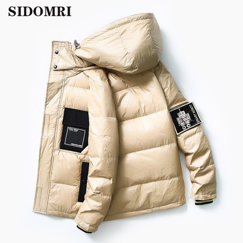 Mens down jacket new popular logo90% white duc short autumn/winter  cool and thickened light mens coat