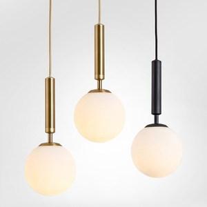 Modern Glass Ball Pendant Lamp Aluminum Bedside Hanging Lamp For Kitchen Living Room Bedroom LED Light E14  AC85-265V 12W