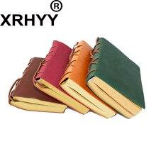 Carnet de notes à reliure en cuir, classique et rétro, pour journal intime