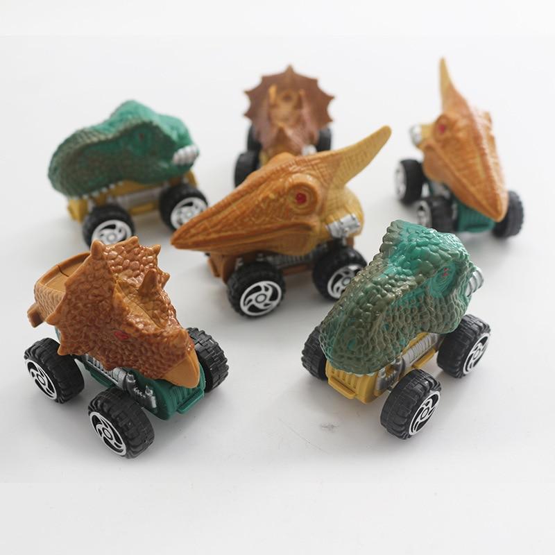 Hot Sale Kids Action Toys Dinosaur Return Resilience Small Car Simulation Triceratops Model Model Car Children Christmas Gift