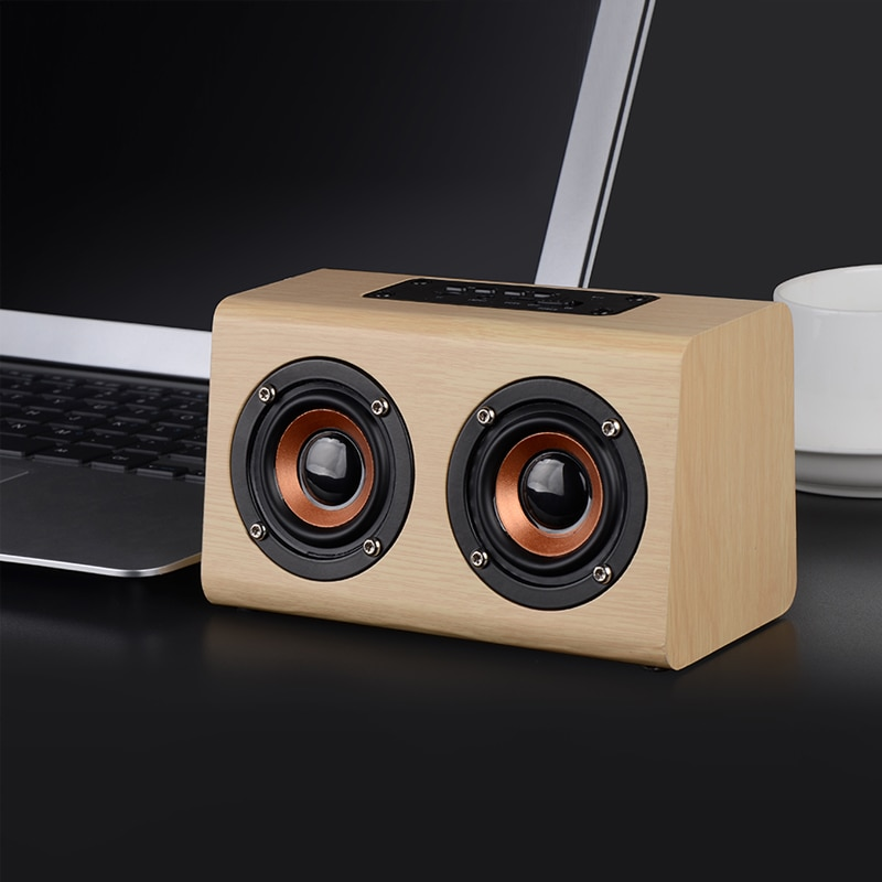 ITINIT Y19 Wooden Wireless Bluetooth Speaker HiFi Bass TF blutooth Subwoofer Loudspeaker Portable Bluetooth Speaker enlarge