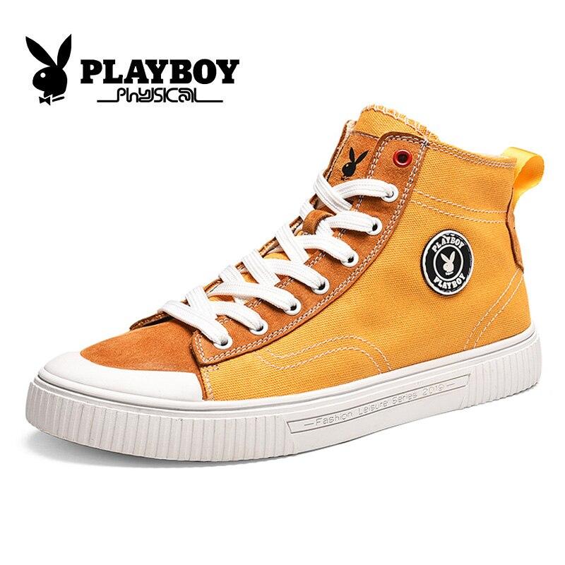 PLAYBOY nuevos zapatos de skateboard altos planos zapatillas transpirables zapatos deportivos de calle Hip Hop zapatos para caminar chaissure Homme