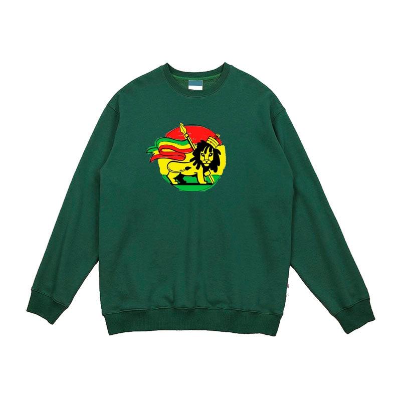 cute reggae zion lion street wear hiphop rock music fashion men women size o neck Cotton fleece thick warm sweatshirt hoodie
