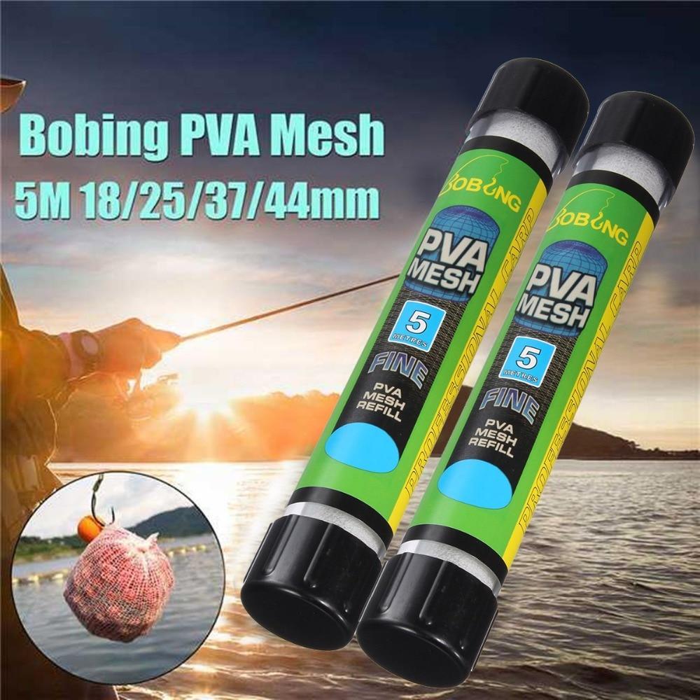 1 Uds 5M de disolución de agua PVA angosto tubo de malla neto alimentador de carpas para pesca señuelos de repuesto émbolo Barra de aparejo alimentador de carpas para pesca