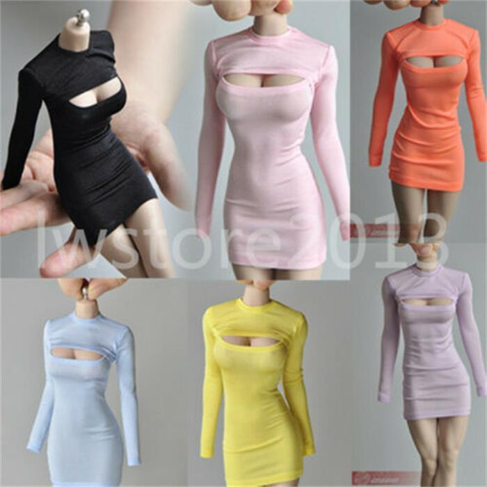 """Vestido abierto en el pecho 1/6, ropa adecuada para muñecas femeninas de 12 """", figura de TBL, Body Doll"""