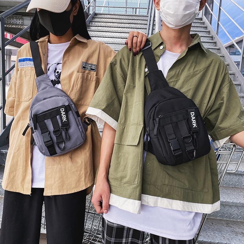 Chest bag men's tide brand 2020 new Korean leisure sports messenger bag men's Japanese multifunctional tooling shoulder bag