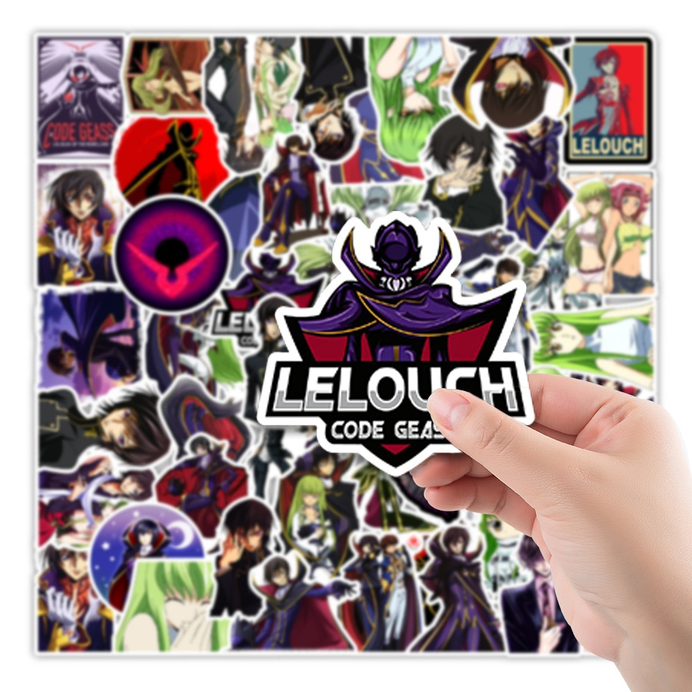 10/30/50pcs/pack Anime CODE GEASS Lelouch of the Rebellion Stickers Lable For Cars Motorcycles Furniture Children's toy DIY