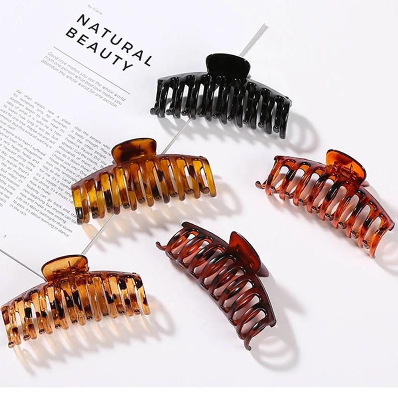 Enobarvna spona za kremplje za lase, velika rakovica, kremplji za - Oblačilni dodatki - Fotografija 2