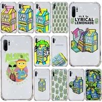aliens drink lemonade phone case transparent for samsung s9 s10 s20 huawei honor p20 p30 p40 xiaomi note mi 8 9 pro lite plus