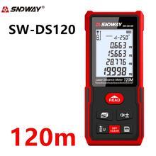 Telémetro láser Sndway, medidor de distancia 50m 70m 100m 120m, telémetro electrónico de cinta métrica láser para ruleta