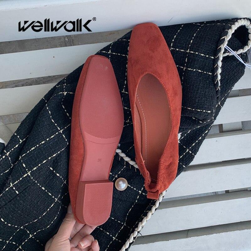 عارضة الأخفاف منخفضة كعب النساء الأحذية المسطحة عادي طوي الباليه الشقق الإناث مطاطا عودة مكافحة المتسكعون الانزلاق على الباليه